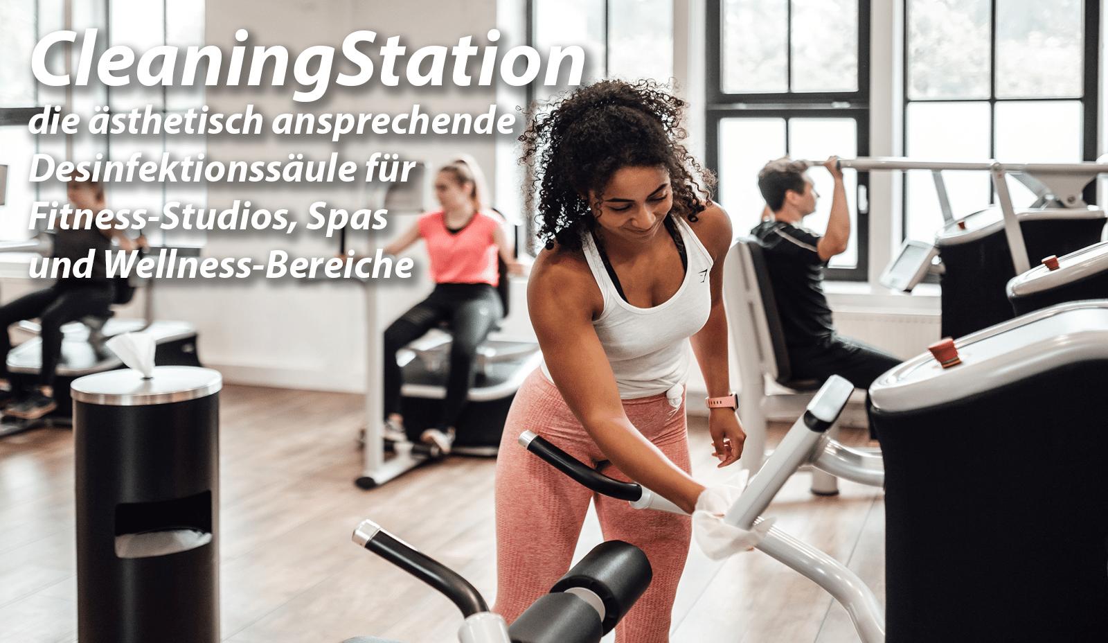 CleaningStation ästhetische Desinfektionssäule für Fitness-Studios-1600