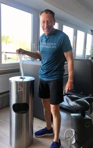 Linzenisch - CleaningStation ästhetische Desinfektionssäule für Fitness