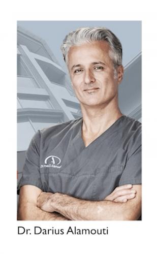 Referenz Dr. Alamouti - Desinfektionslösung für Wartebereich in Arztpraxis